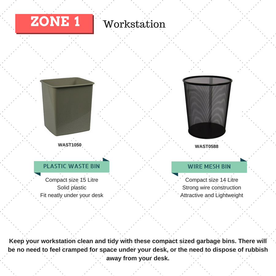 rubbish bins for workstation