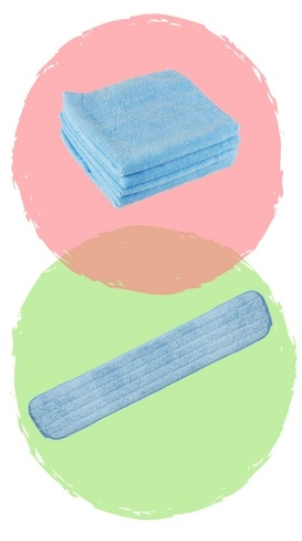 microfibre cloth and mop