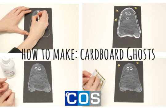 how to make cardboard ghost arts and crafts